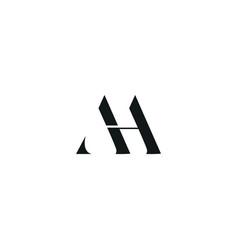 Aa initial logo design logo letter logo vector
