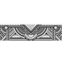 Abstract polynesian ethnic pattern vector