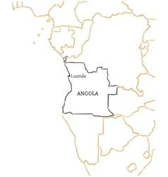Angola hand-drawn sketch map vector