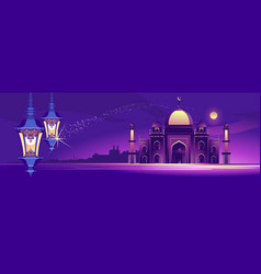 arab night banner vector image