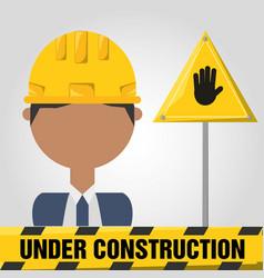 Archictec man under construction concept vector
