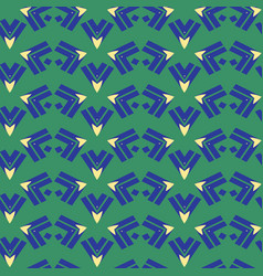 arrow triangle stripes seamless pattern vector image