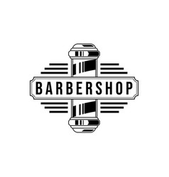 barber shop vintage logo isolated on a white vector image