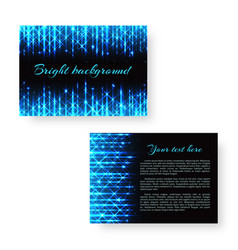 bright flyer with neon light vector image