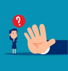 Business people are forbidden stop gesture vector