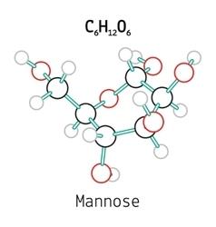 C6H12O6 Mannose molecule vector image