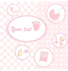 Card for girl babyshower vector