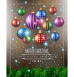 Christmas original modern background template vector image
