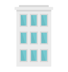 City building icon flat style vector