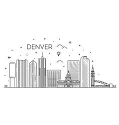 Colorado denver city skyline architecture vector