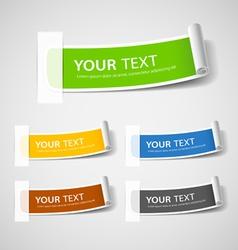 Colorful Label paper roll design vector