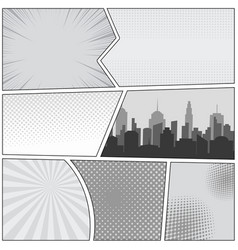 Comic book page template vector