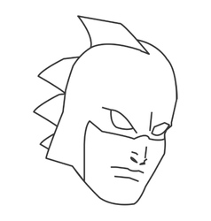 Comic style male superheroe with mask and thorns vector