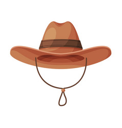 cowboy hat vintage male headdress retro fashion vector image