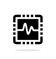 Cpu monitoring simple icon on white background vector