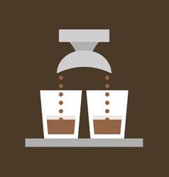 Double shot of espresso vector