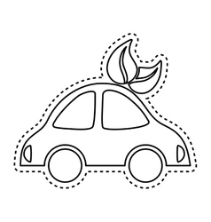 Electric car symbol vector