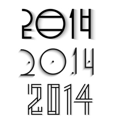 elegant happy new year 2014 design vector image