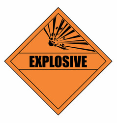 explosion hazard sign vector image