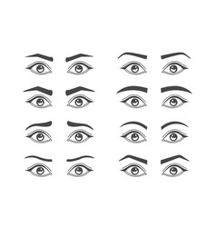 eyebrow shaping isolated vector image