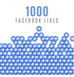 Facebook likes 1k image vector