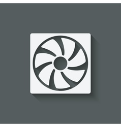 Fan design symbol vector