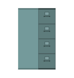 file cabinet closed card index iron box for vector image
