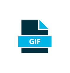 file gif icon colored symbol premium quality vector image