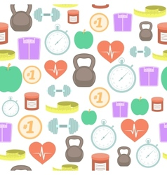 Fitness seamless background vector