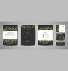 flower wedding save date invitation cards vector image