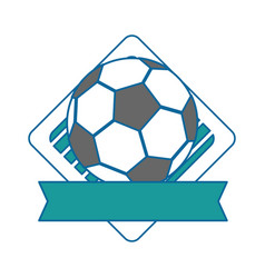 football ball emblem vector image