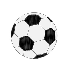 Football soccer ball scribble effect Flat design s vector