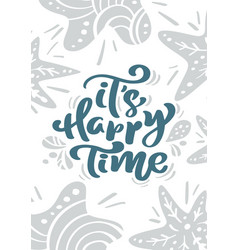 greeting card with christmas calligraphy vector image