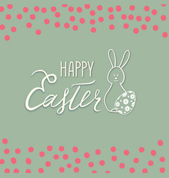happy easter greeting card spring holiday vector image