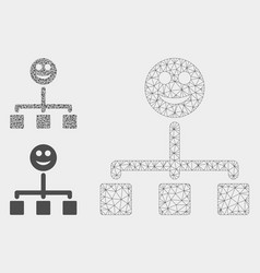 happy hierarchy mesh 2d model and triangle vector image
