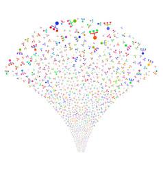 hierarchy fountain stream vector image
