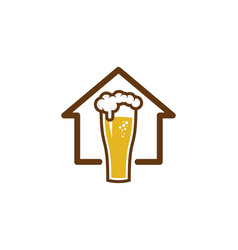 Home beer logo icon design vector