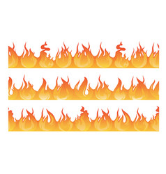 Horizontal seamless pattern of wildfire silhouette vector
