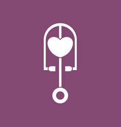 Icon phonendoscope with heart vector