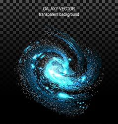 Image of galaxies nebulae cosmos and effect tunnel vector