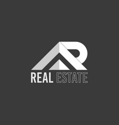 letter a and r real estate logo vector image