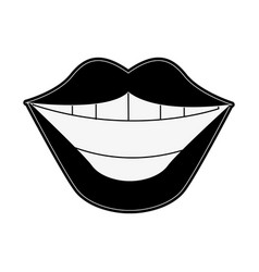 lips of a woman icon image vector image