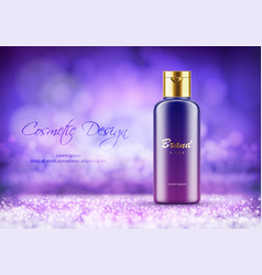 Luxury plastic bottle for cream or shower gel vector