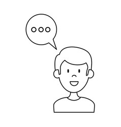 Man with speech bubble vector