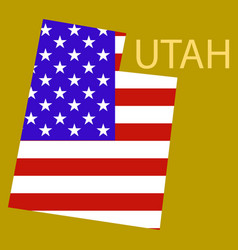 Map of utah vector