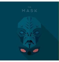 Mask Hero superhero flat style icon logo vector image