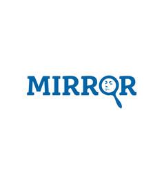 mirror-logo vector image