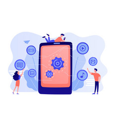mobile content concept vector image