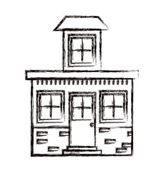 Monochrome blurred silhouette house with small vector