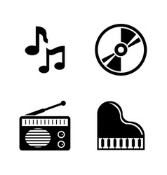 music simple related icons vector image
